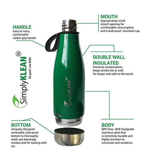 {filename}-Simplyklean Leak-proof Water Bottle That Opens From Top And Bottom