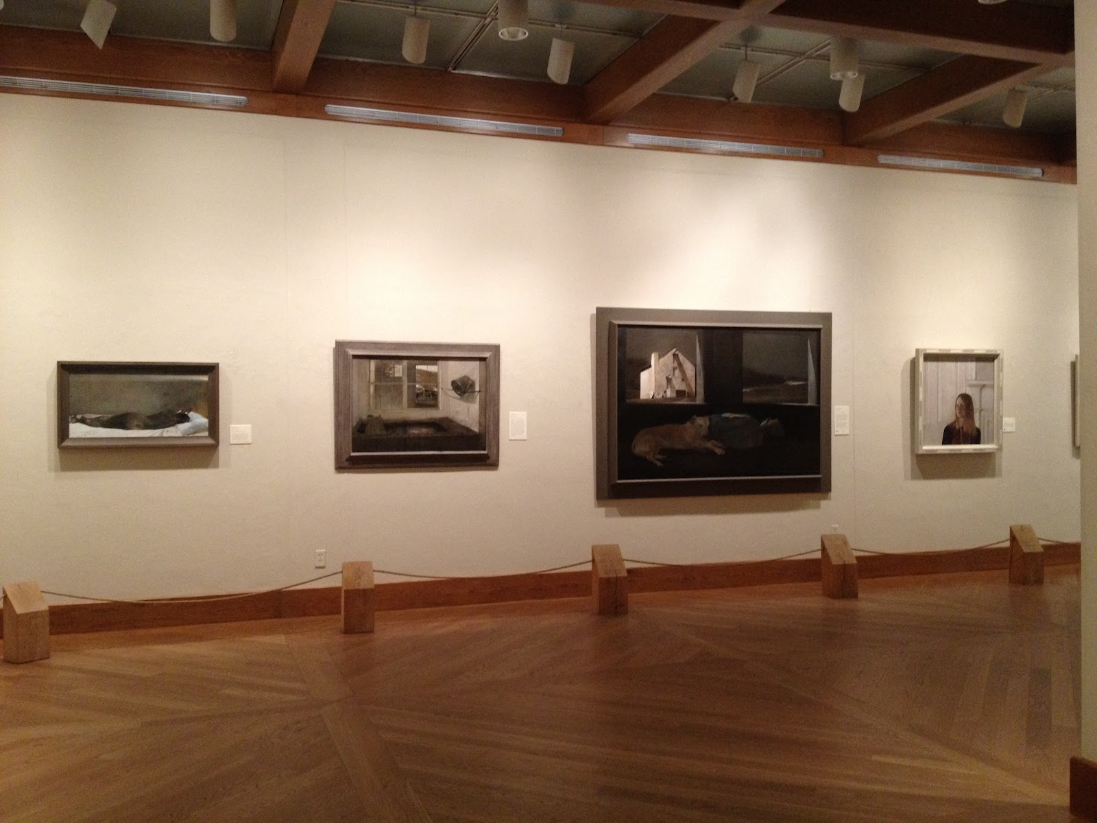 add09db82ca A wall of Andrew Wyeth s exquisite egg tempera paintings on panel
