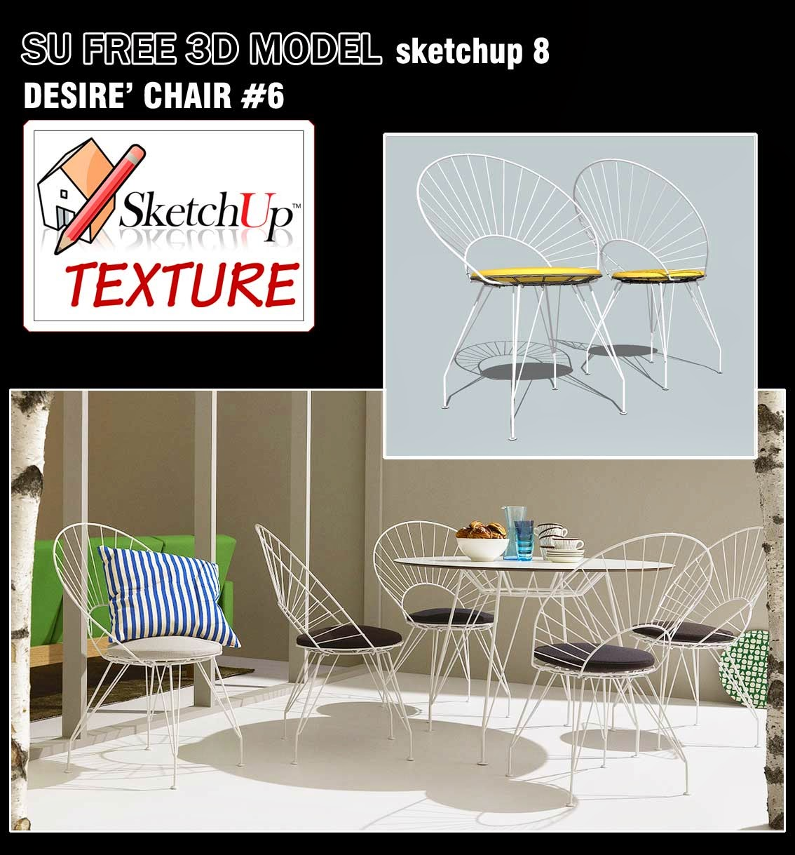 SKETCHUP TEXTURE: SKETCHUP MODELS CHAIR & EASY CHAIR
