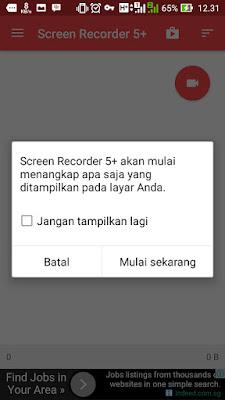 Cara Merekam Layar Android Menggunakan Screen Recorder