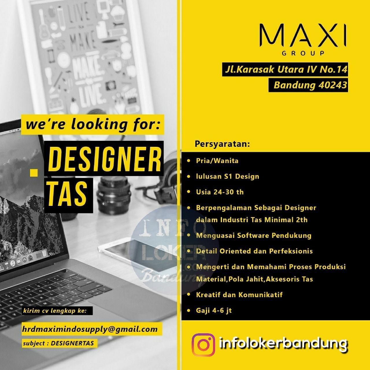 Lowongan Kerja Designer Tas Maxi Group Bandung September 2018