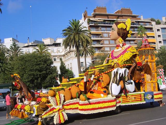 Batalla de Flores en el Paseo de la Alameda de Valencia, julio 2008 - Paseos Fotográficos Valencia