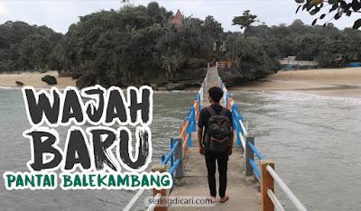Wajah baru pantai Balekambang Malang Selatan Kabupaten Wisata Alam Liburan