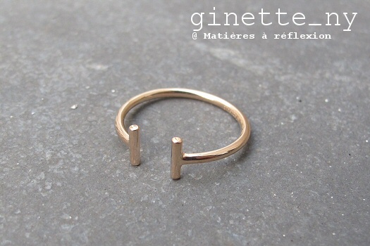 Ginette NY Bague Gold strip Purity rose