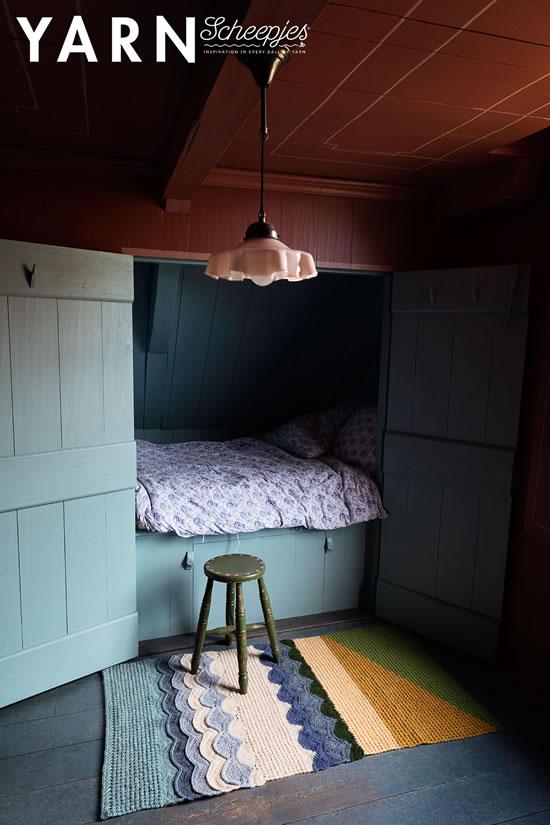 Bedroom Rug, Van Gogh inspired crochet. Design by Dedri Uys, photo by Scheepjes   Happy in Red