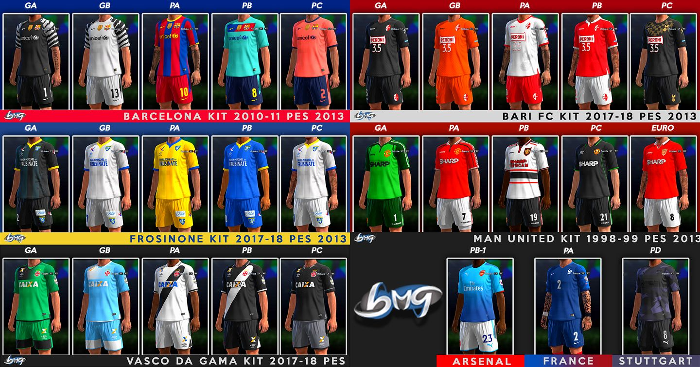 PES 2013 Update Kits 29.11.2017 by BMG Kitmaker