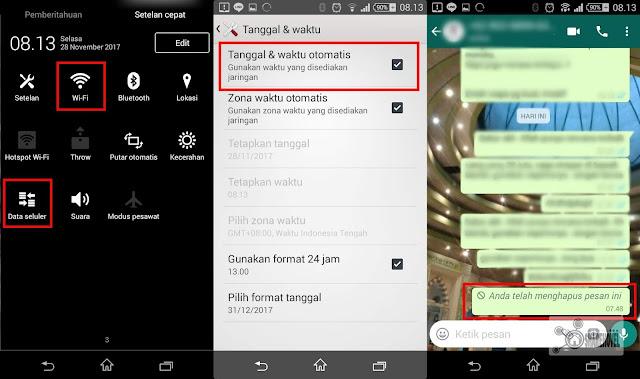 Pesan Whatsapp yang terkirim dalam jangka waktu lebih dari 7 menit telah berhasil dihapus - sharehovel