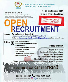 Open Recruitment KOMMUN Palembang