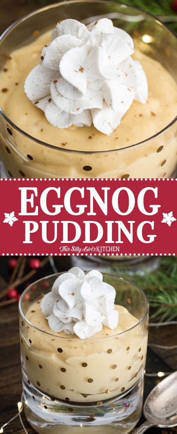 HOMEMADE PUDDING MADE WITH EGGNOG