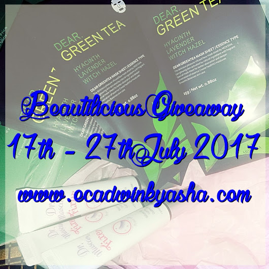 Beautilicious Giveaway July 2017