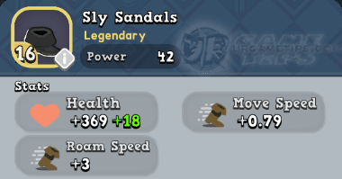 World of Legends Sly Sandals