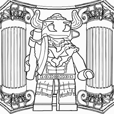Hercules Greece roman temple printable Lego Mini figures Series 6 Minotaur coloring pages for free