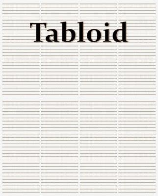 Kolomisasi Media Cetak Tabloid = 4 – 6 Kolom, reka bentuk surat kabar, jurnal rozak