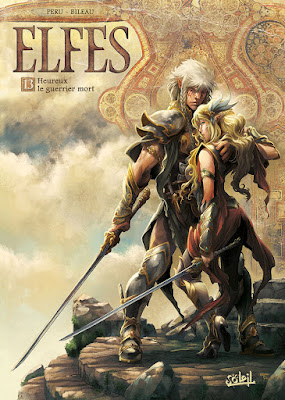 couverture de Elfes T13 Heuyreux le guerrier mort de Péru et Bileau chez Soleil