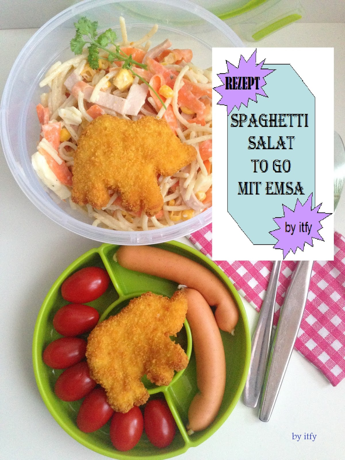 I TEST FOR YOU :-): Schnelle Küche to Go: Bunter Spaghetti Salat ...