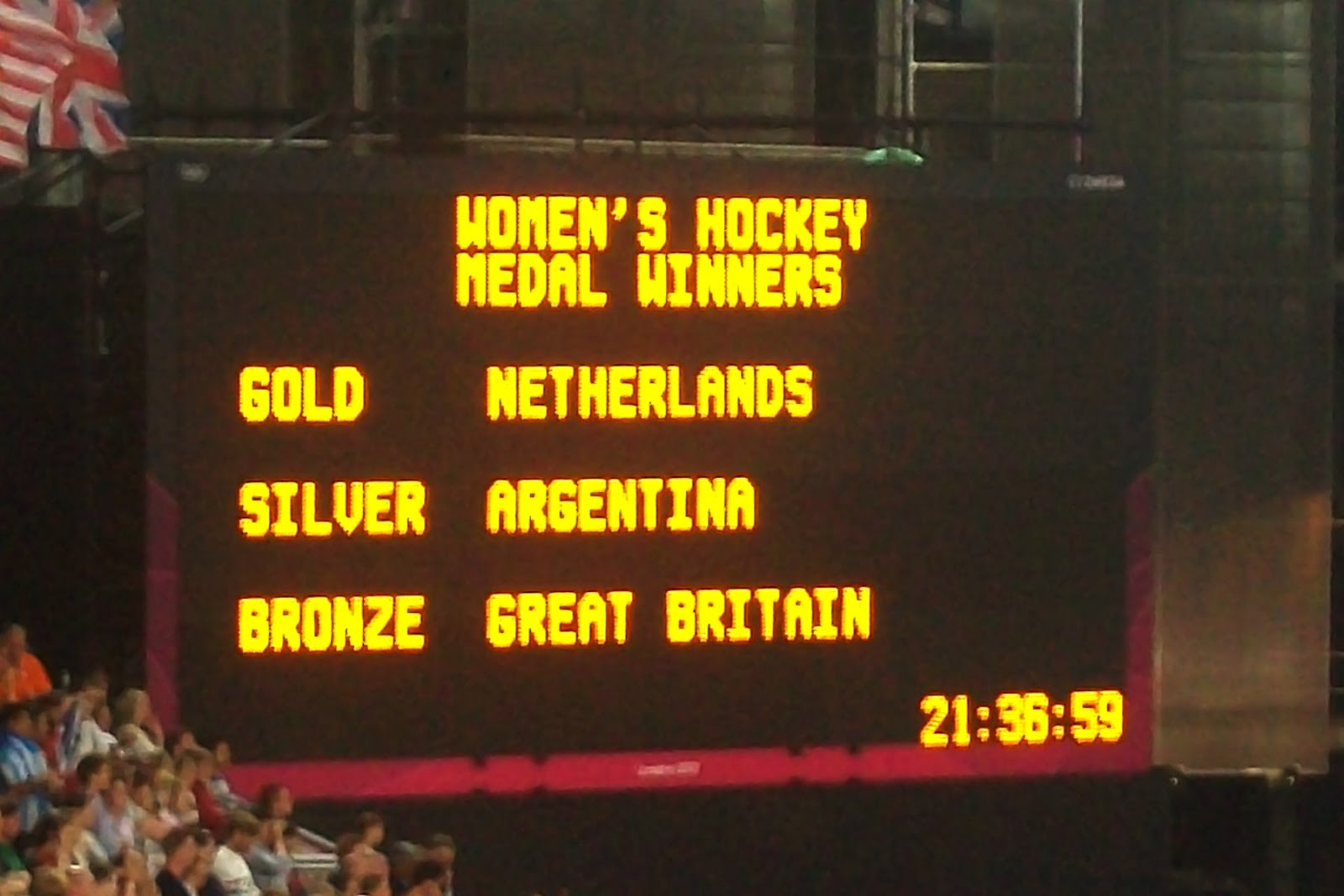 London Olympic Women's Hockey Medal Ceremony 2012
