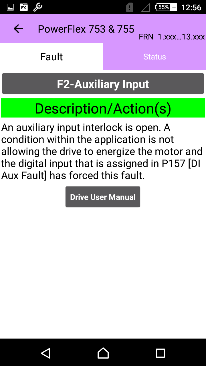 PLC Technology: Drive Fault Finder Android App