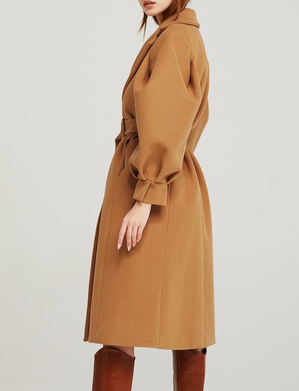 isabella structured puff sleeve coat