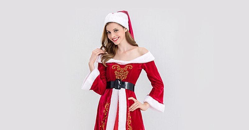 Merry Christmas: Red Christmas Dress Women Santa Clothes