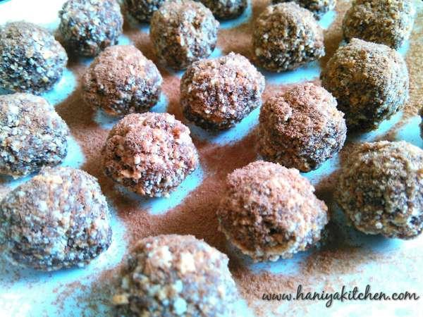Resep membuat milo balls no baked