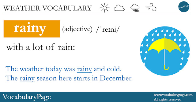Weather Vocabulary - Rainy