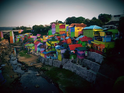 kampung 3D, kampung warna-warbi, jodipan malang, wisata malang