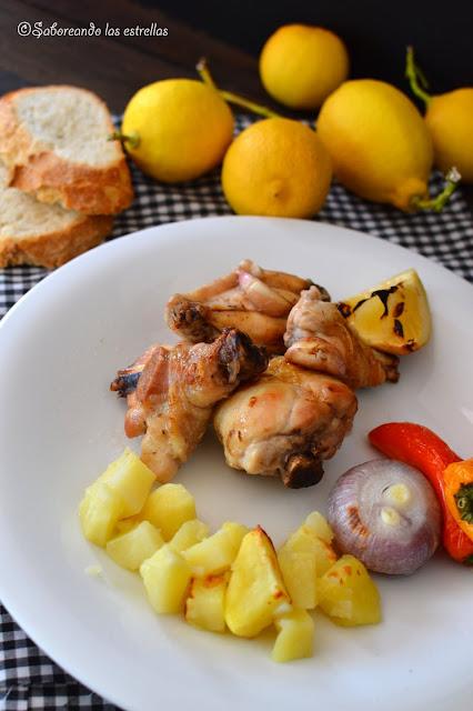 Pollo asado al limon©Saboreando las estrellas