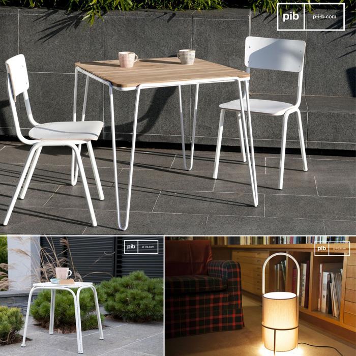 Arreda lo spazio outdoor con sedie Skole, tavolo Escape, sgabello Sollävik, lampada Armi