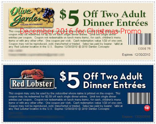 Olive Garden coupons for december 2016