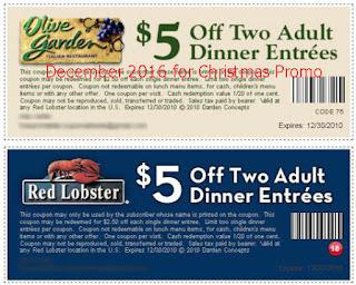 Olive Garden coupons for december 2016