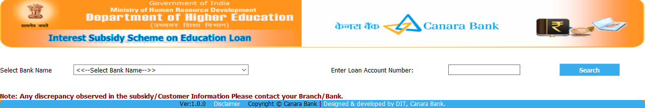 2016 education loan task force eltf new website links to get education loan interest subsidy status altavistaventures Choice Image