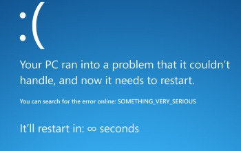 Wallpaper: BSOD error screen
