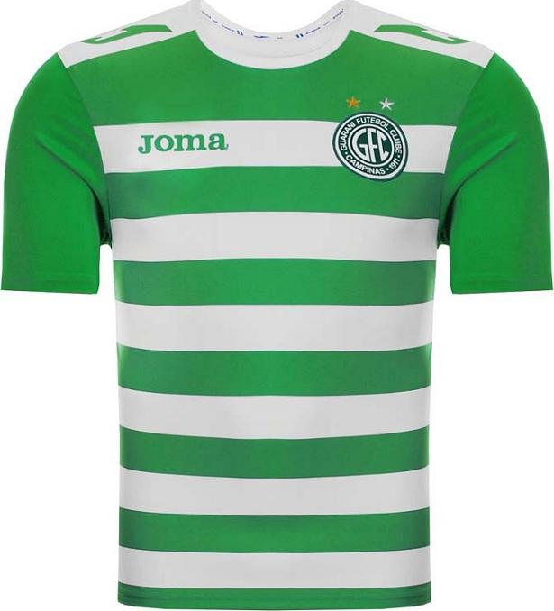 1467282fa7 Joma apresenta terceiro uniforme do Guarani - Show de Camisas