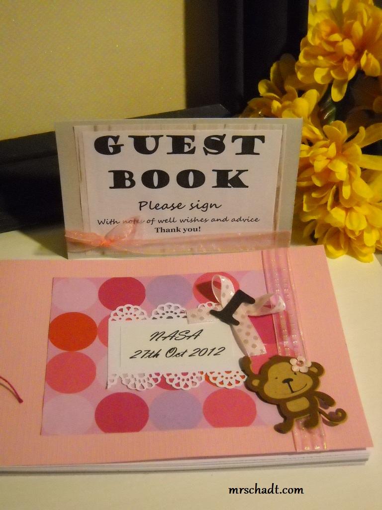 mrschadt miss monkey first birthday guest book album