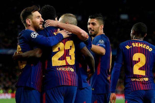 Cuplikan Gol Barcelona 4-1 Roma | Liga Champions