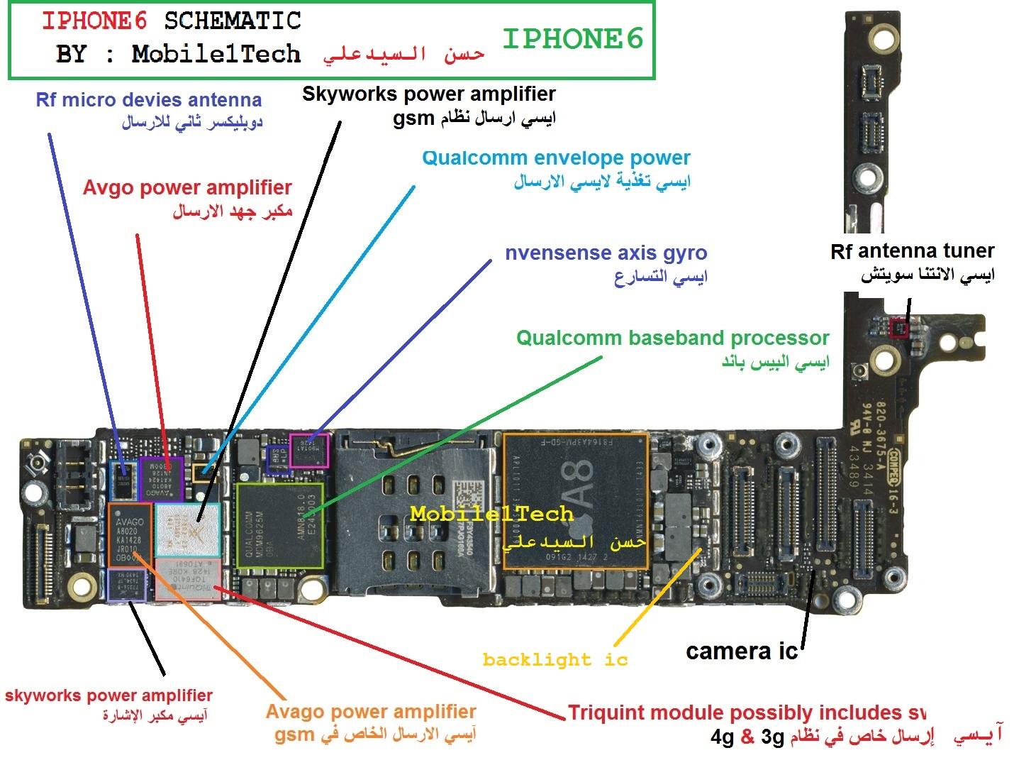 Mobile1Tech حسن السيدعلي: IPHONE 6 SCHEMATIC
