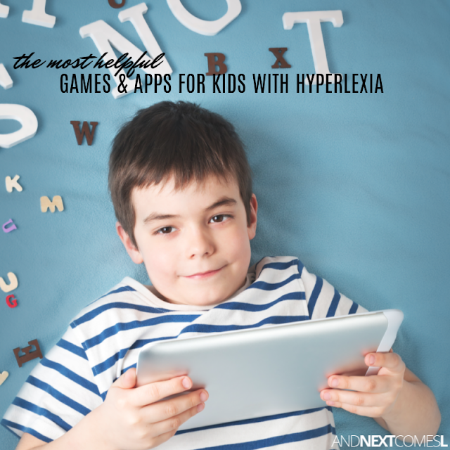 Hyperlexia teaching strategies using games and apps