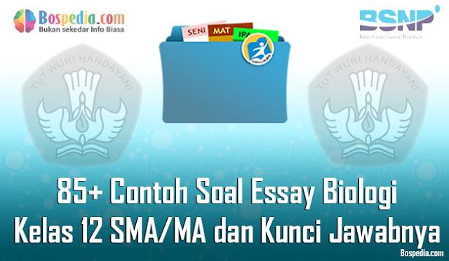 85+ Contoh Soal Essay Biologi Kelas 12 SMA/MA dan Kunci Jawabnya Terbaru