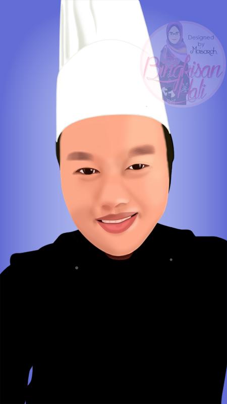 Vector Potrait Chef Obie, Portfolio, tempahan vector potrait murah, tempahan design doodle murah,