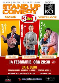 Stand-Up Comedy Magie si Ventrilocie Duminica 14 Februarie Bucuresti