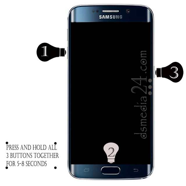 Download Mode on Samsung Galaxy S6 Edge Plus SM-G928S