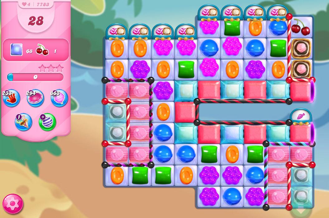 Candy Crush Saga level 7783