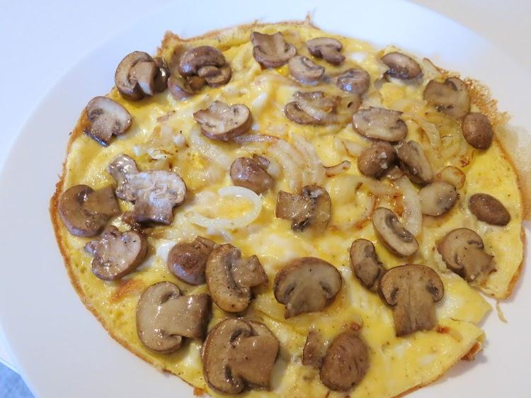 Omelete de Cogumelos e Cebola
