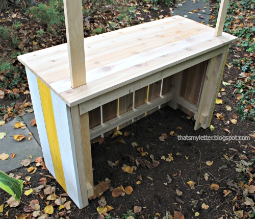 diy kids lemonade stand interior