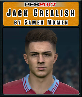 PES 2017 Faces Jack Grealish by Sameh Momen