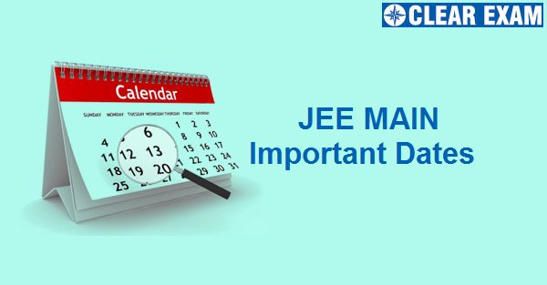 JEE Main Important Dates 2020