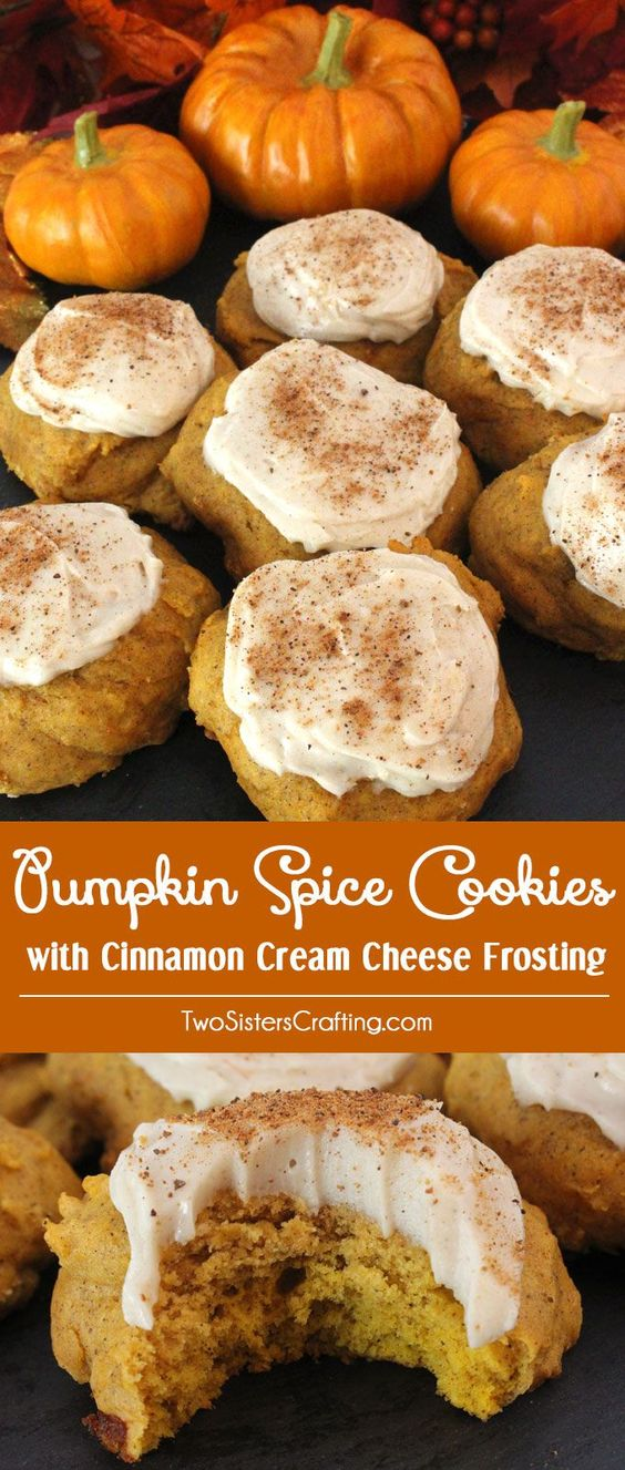 ★★★★☆ 7561 ratings   PUMPKIN SPICE COOKIES WITH CINNAMON CREAM CHEESE FROSTING #HEALTHYFOOD #EASYRECIPES #DINNER #LAUCH #DELICIOUS #EASY #HOLIDAYS #RECIPE #PUMPKIN #SPICE #COOKIES #CINNAMON #CREAM #CHEESE #FROSTING