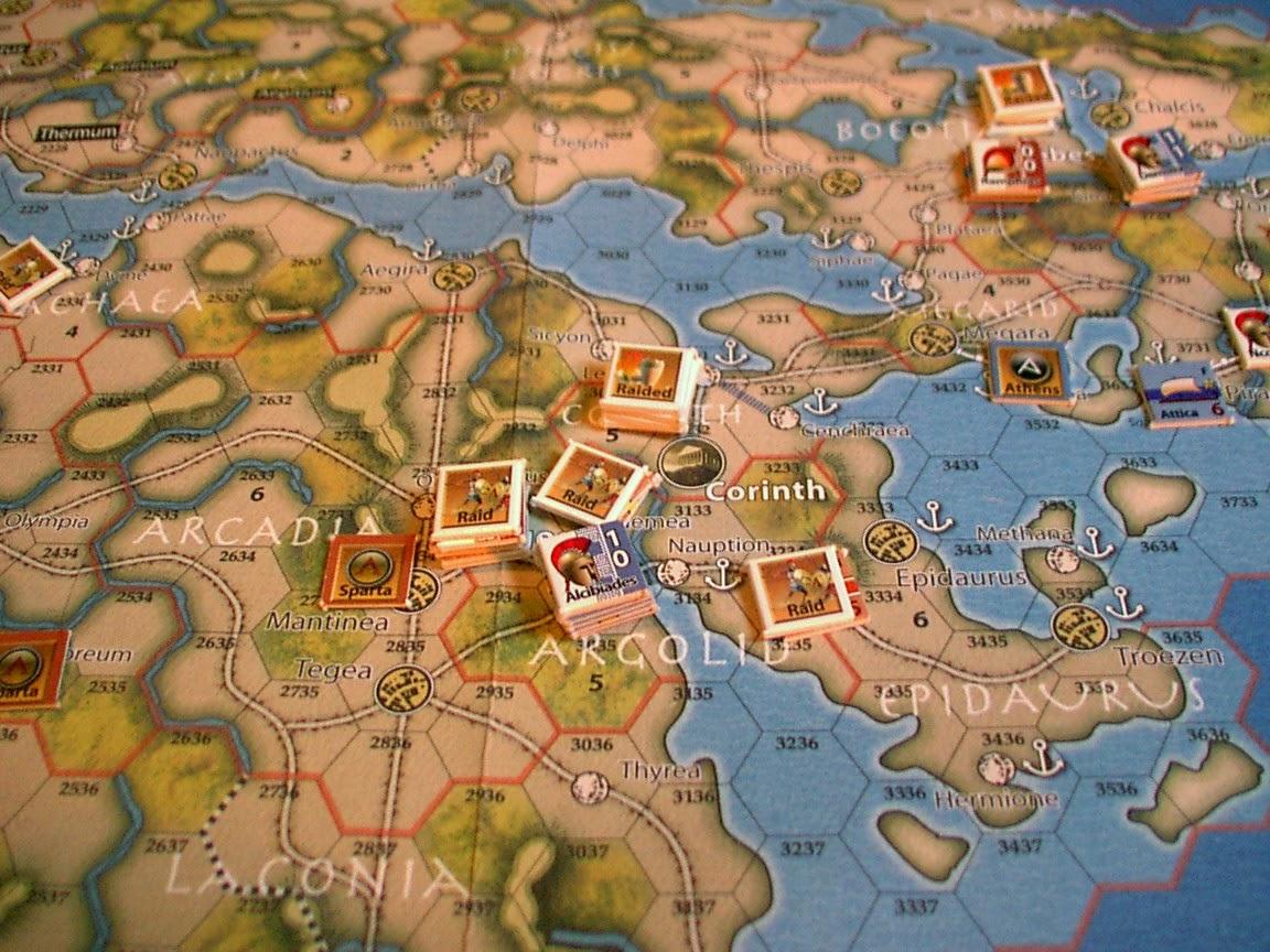 War Map Athenian Spartan And