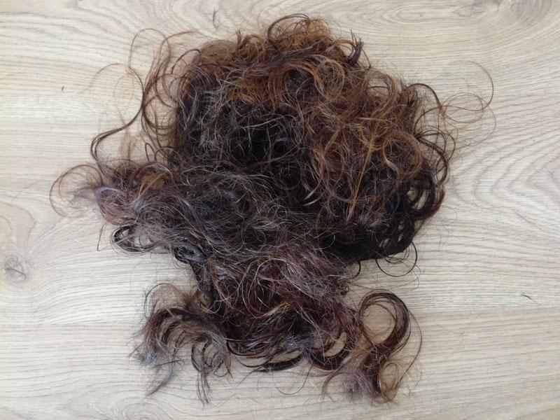 I miei capelli in terra :-)