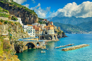 Amalfi coast in Campania